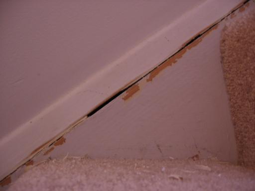 ... Baseboard Trim Gaps On Stairs Img_1760