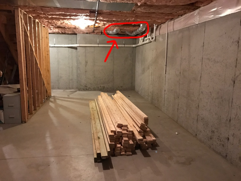 Finished Basement Exposed Ceiling Building & Construction DIY
