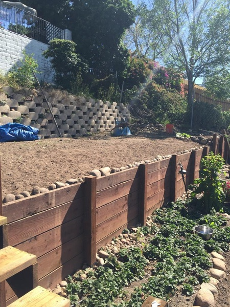 Wood Retaining Wall Help Building Construction DIY Chatroom