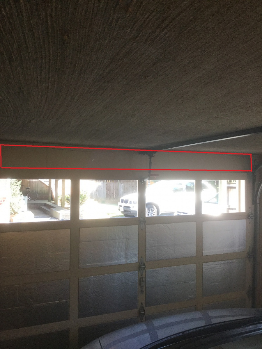 Can i insulate this void above my garage door to stop air for How can i stop spiders from coming in my house