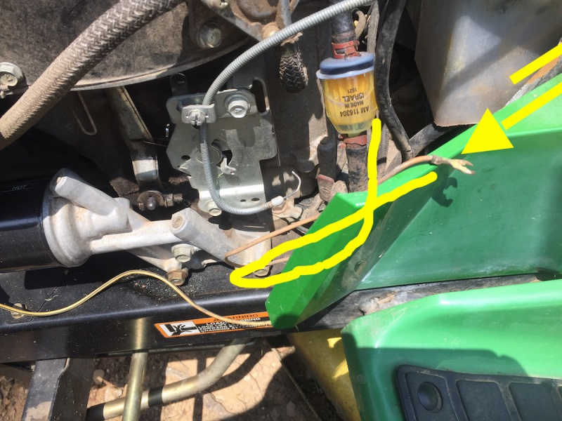 Throttle Cable Replacement On Jd Tractors Amp Mowers Diy