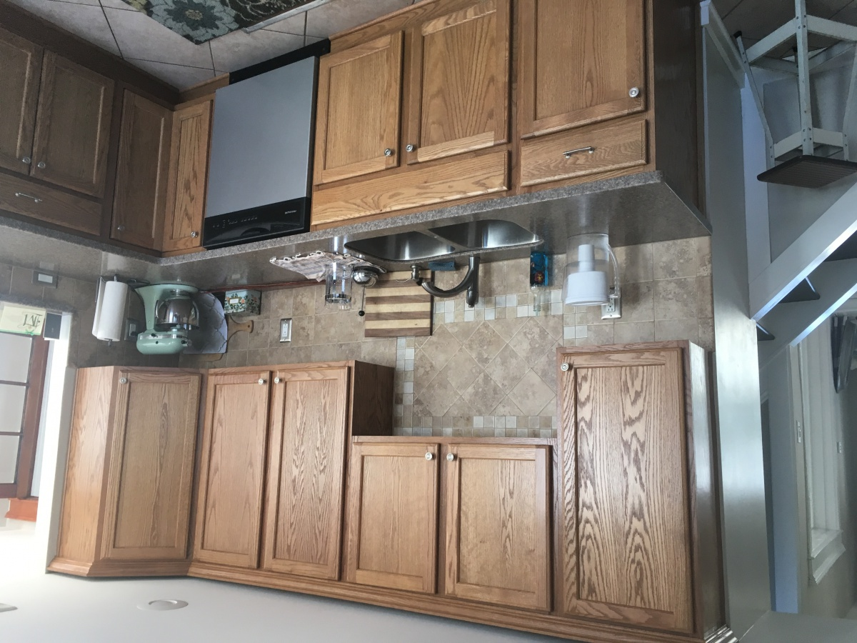 Image of: Restaining Oak Cabinets And Trim Diy Home Improvement Forum