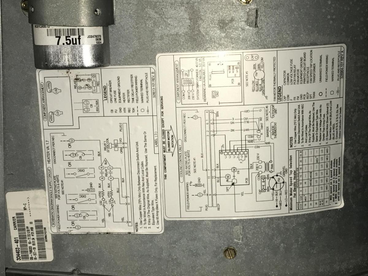 Carrier Air Handler Wiring Diagram Air Handler Wiring Air Handler