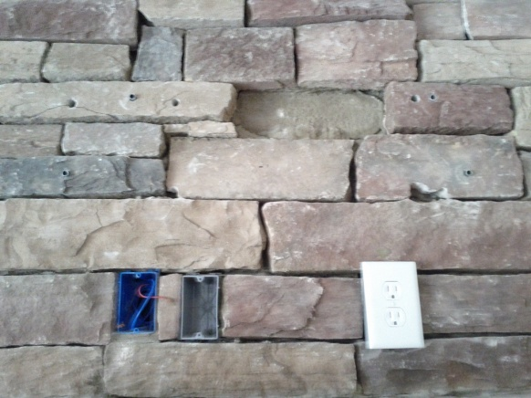 Mounting TV To Previous Stone Fireplace Installation Help - Home ...