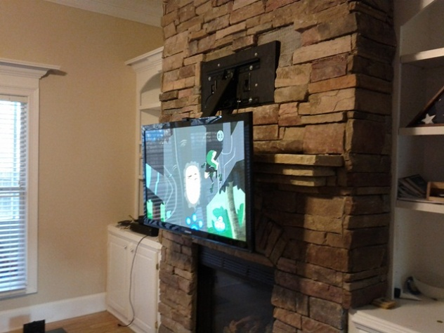Mounting TV to previous stone fireplace installation  help-img_20120306_175220.jpg ... - Mounting TV To Previous Stone Fireplace Installation Help - Home