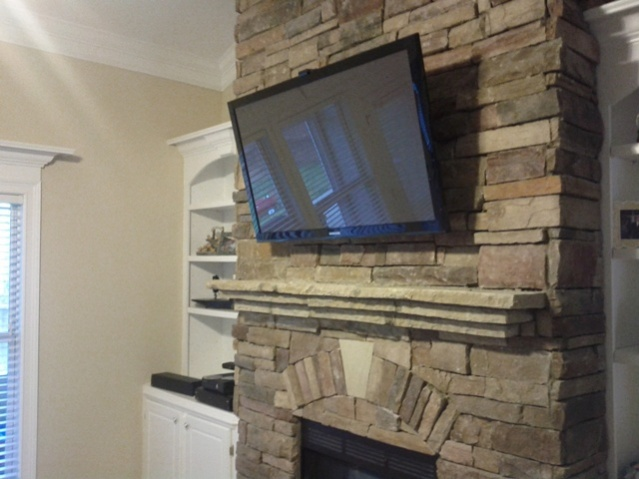 Mounting TV To Previous Stone Fireplace Installation Help ...