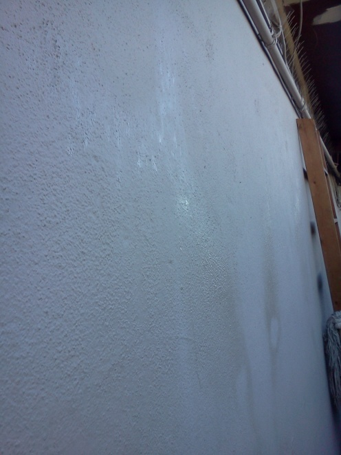 Surfactant Leaching In Some Drywall From Leaks Along Wall