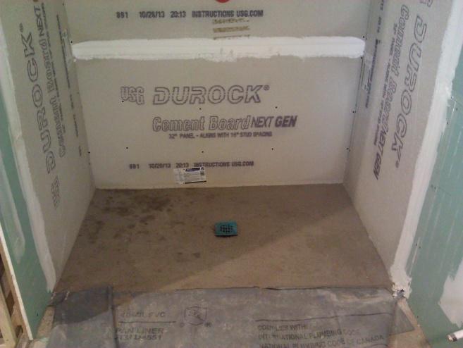 Basement Bathroom Shower Contractor Concerns img 20131208 131934 jpg  Basement Bathroom Shower Contractor Concerns   Kitchen   Bath  . Basement Bathroom Shower. Home Design Ideas