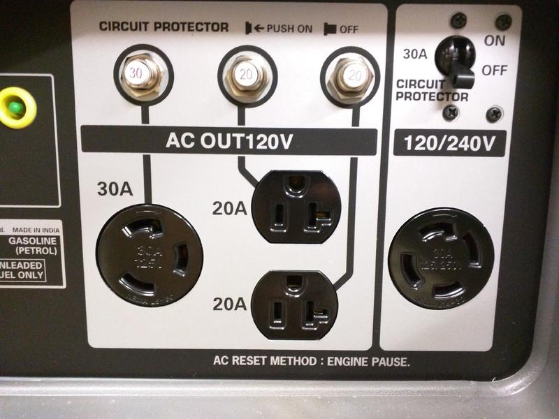 combine circuits   honda euis generator  higher amperage electrical diy