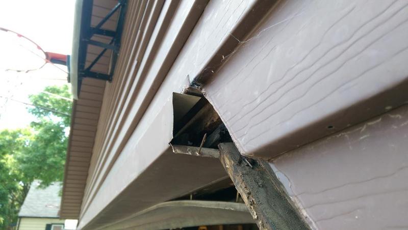 Replacing Aluminum Trim Around Garage Door Roofing