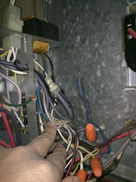 t stat c wire to blue or black wire in old furnace with no. Black Bedroom Furniture Sets. Home Design Ideas