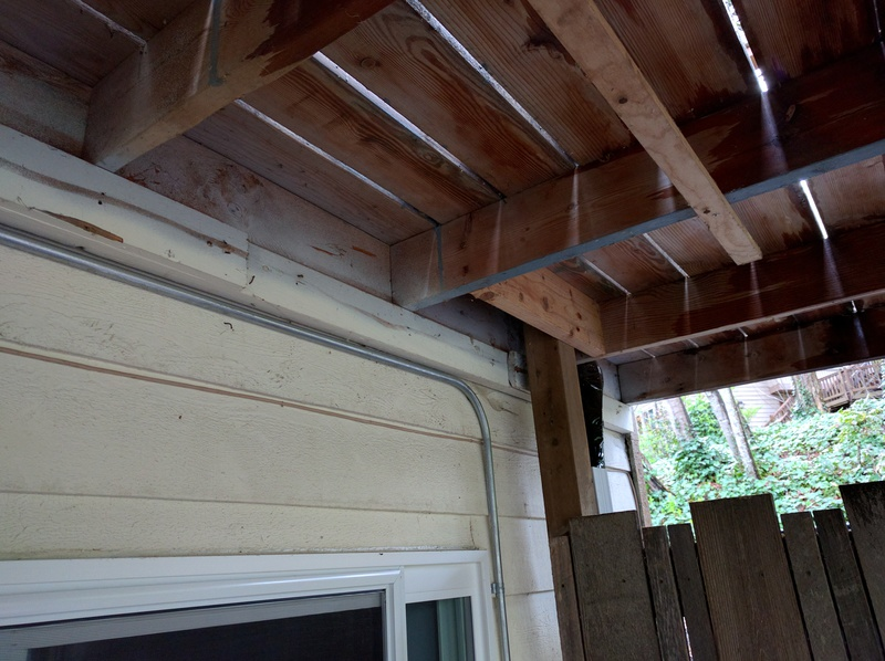 Reinforcing Ledger Board Connection Through Siding
