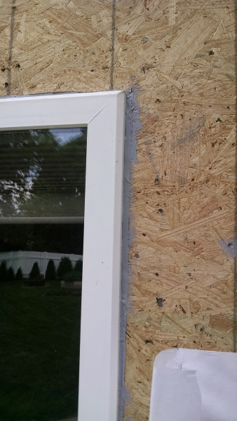 Sliding Glass Door Flange Under Sheathing General Diy