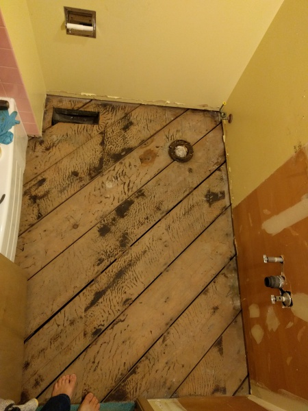 how to fix subfloor after parket removal