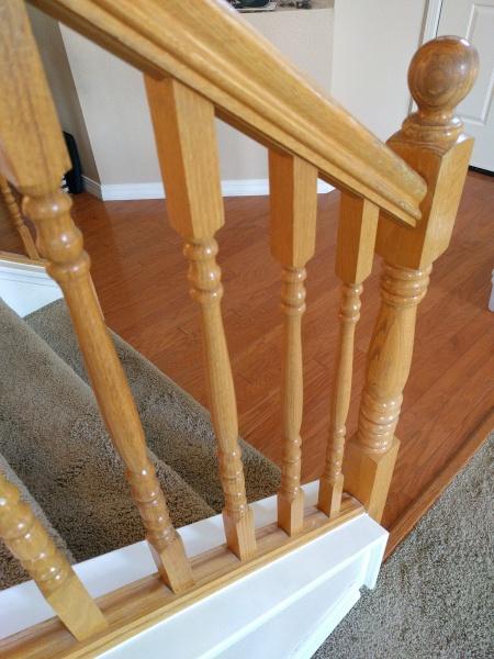 Img_20161007_075539 Restain Oak Staircase. Best Method.