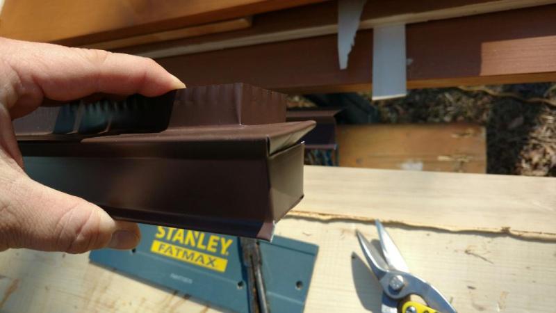 how to cut drip edge corners