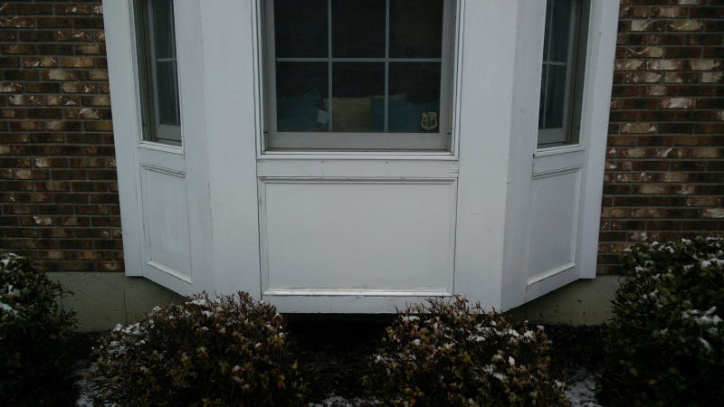 Installing window box on bay window general diy for Bay window installation