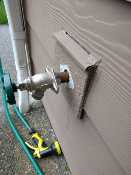 Outdoor Faucet Leaking Behind Wall - General DIY Discussions - DIY ...