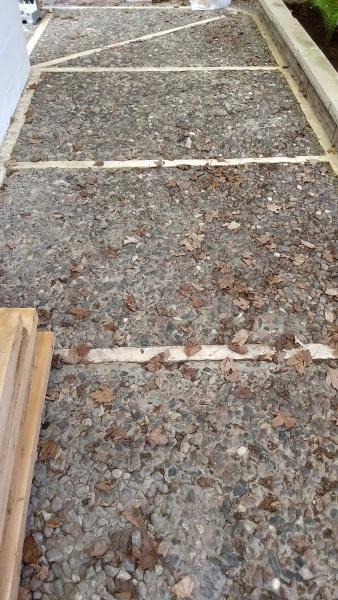 Exposed Aggregate Concrete Walkway With Granite Concrete