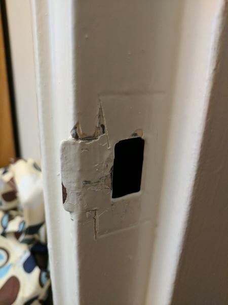 Metal Door Frame Strike Plate Windows And Doors Diy