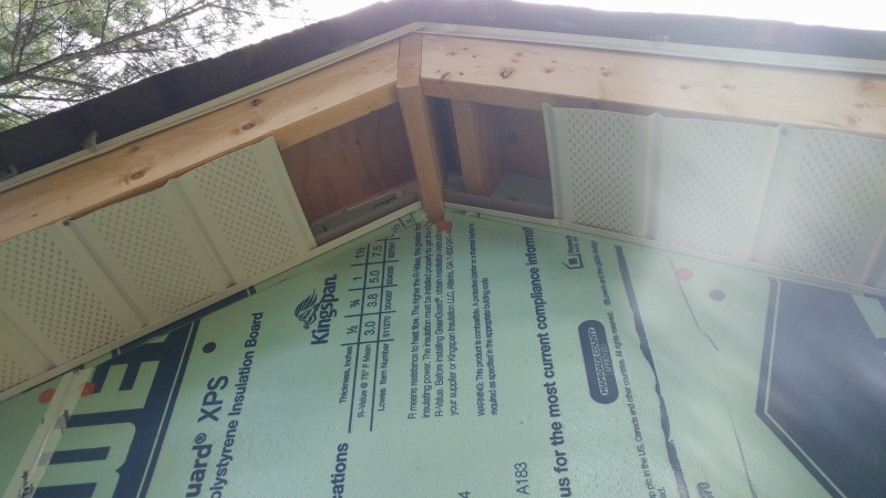 Soffit Install Issue At Top Of Gable End Roofing Siding