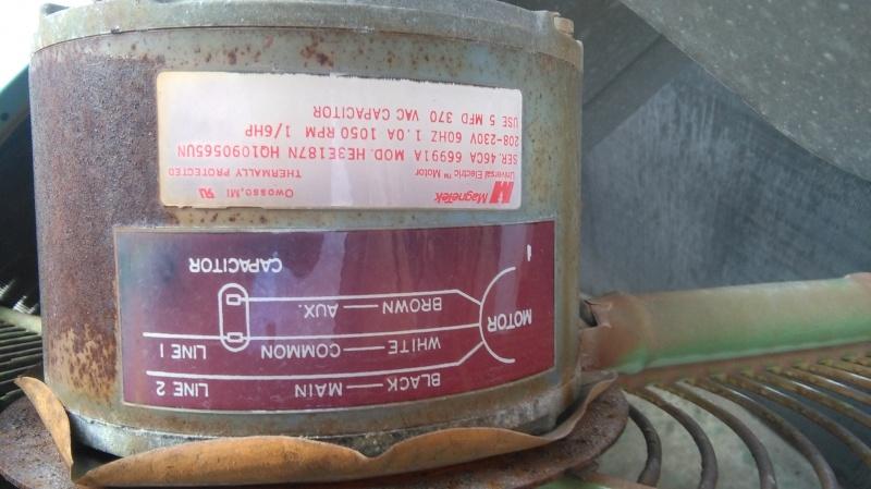 replacing 3 wire condenser fan motor to 4 wire hvac diy chatroom rh diychatroom com