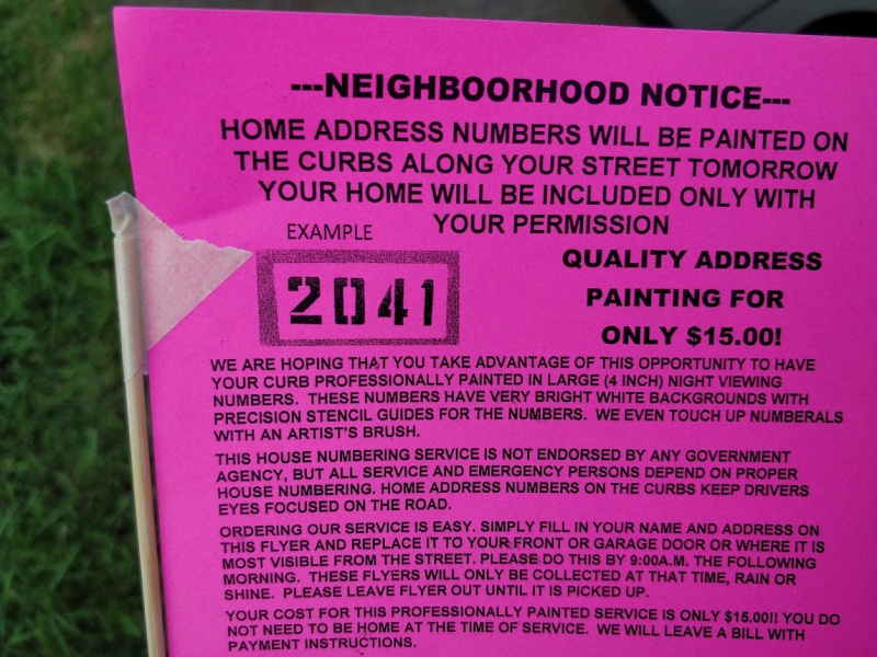 What Kind Of Paint For Home Address Number On The Curb? - Painting ...