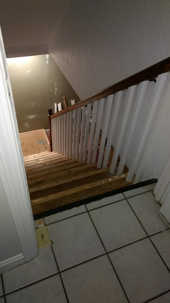 Basement Stair Lighting Pendant: Basement Staircase Support?