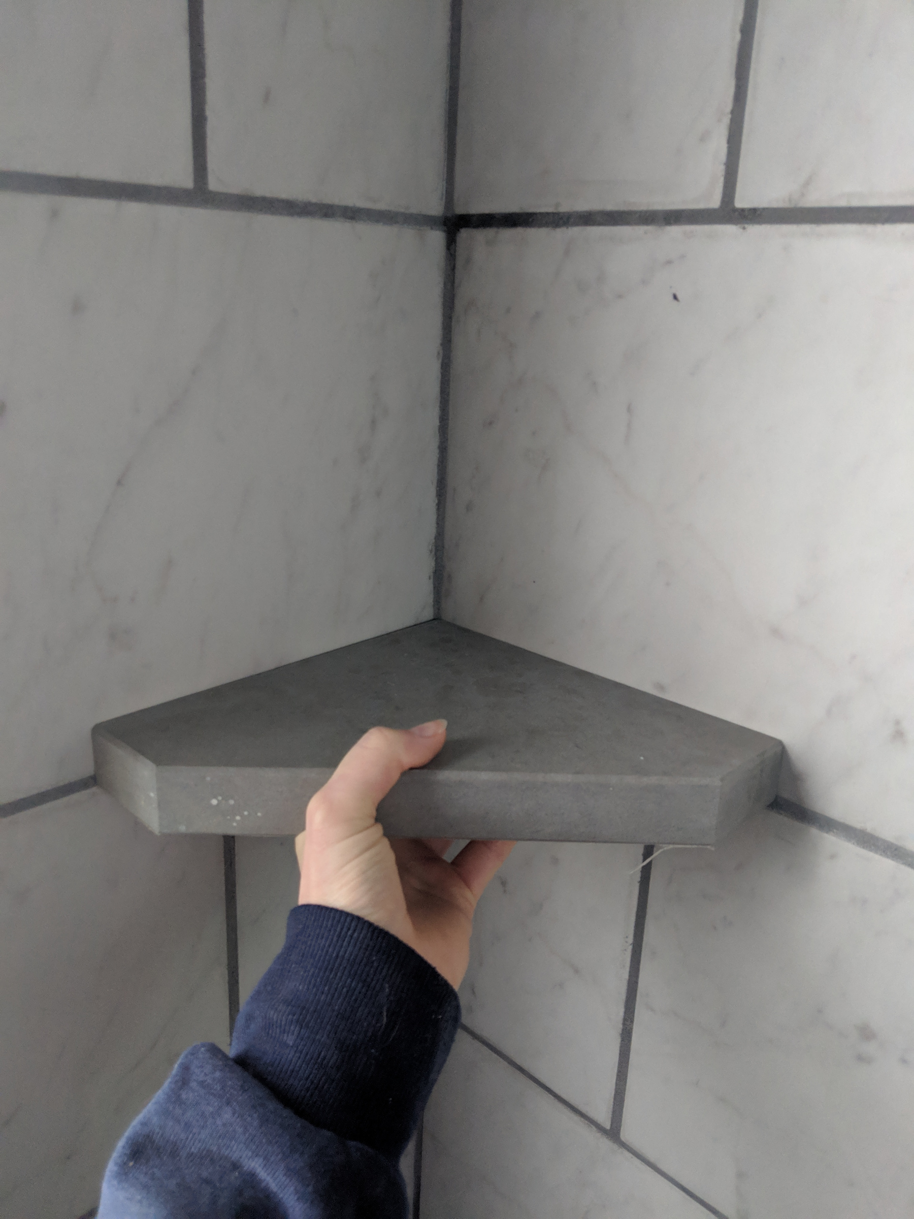 Retrofit Shower Corner Shelf Tiling Ceramics Marble