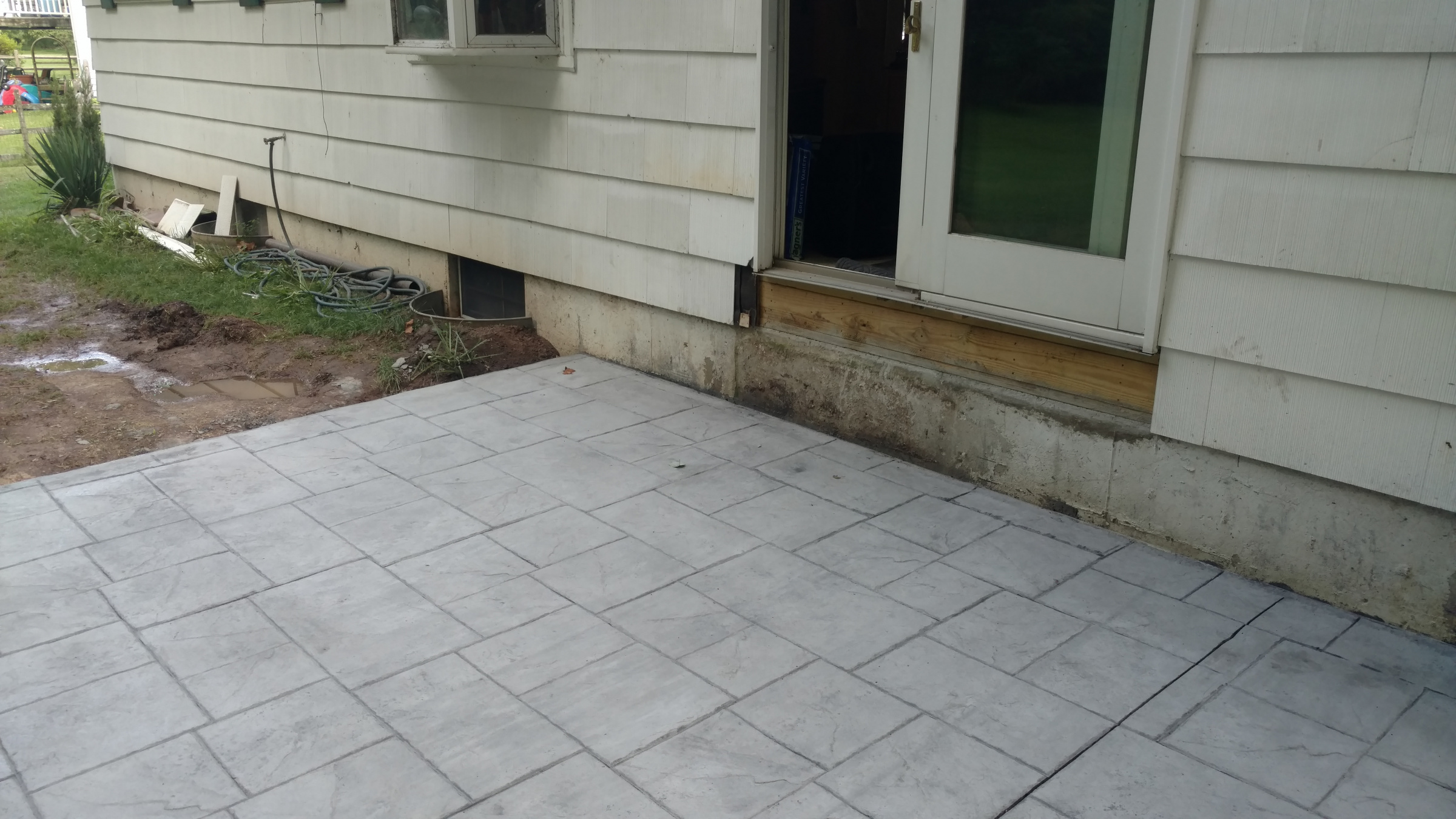 Building Steps Down To Patio Have Questions And Looking For