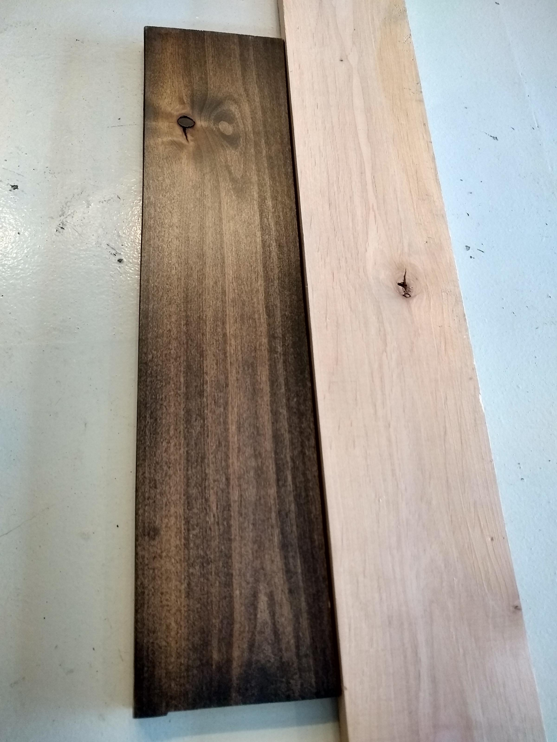 Why is the wood staining differently on a couple of boards-img_20191228_132500357_hdr_1579027324145.jpg