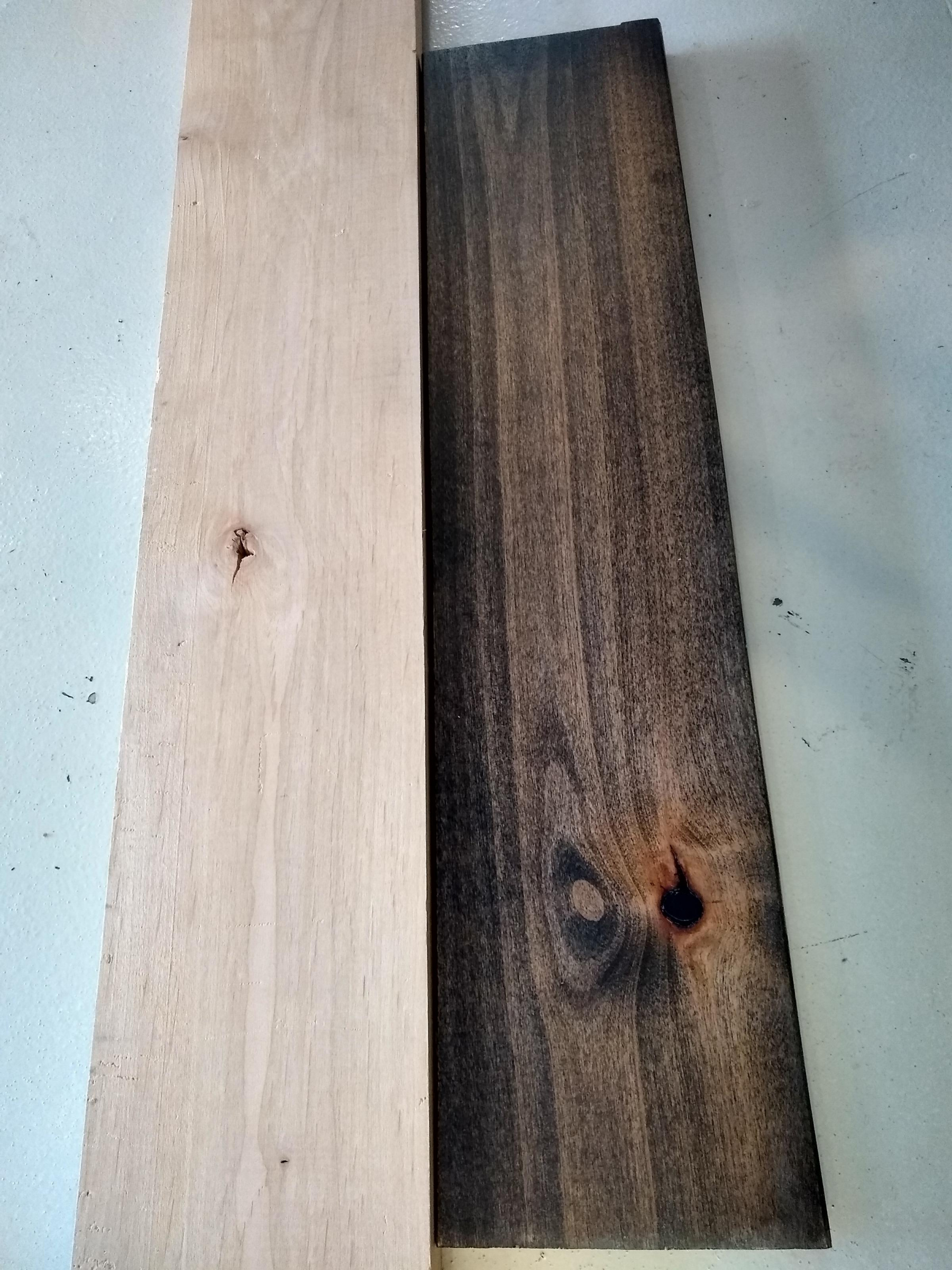 Why is the wood staining differently on a couple of boards-img_20191228_132511201_hdr_1579027310145.jpg