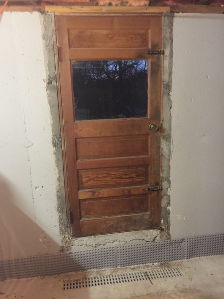 framing basement door