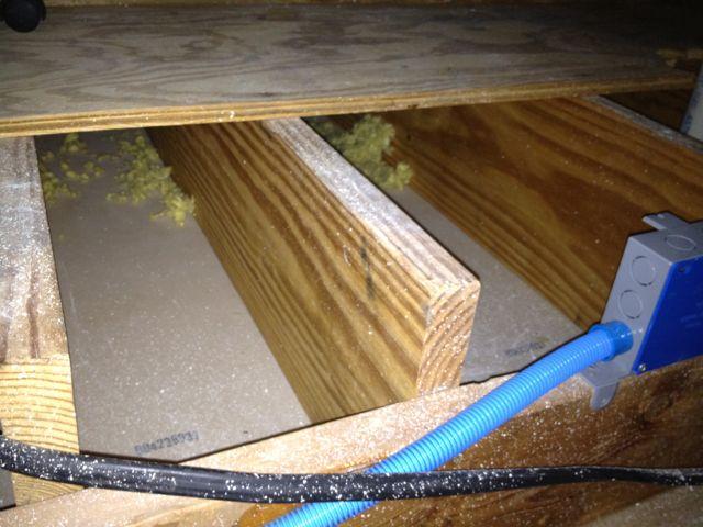 Air Sealing Subfloor Joist Space Foam Board