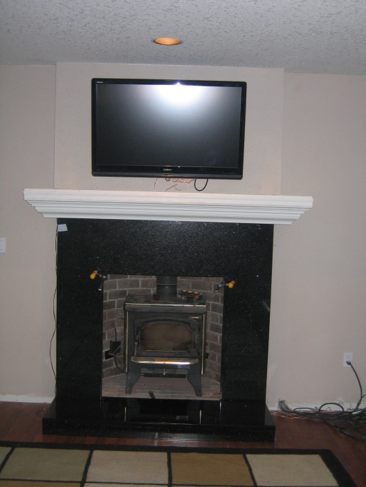 Lay Sheetrock Over Fireplace With Wood Burning Insert