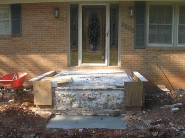Rebuilding Front Porch Concrete Stone Masonry Diy