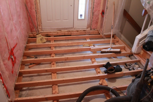 Insulating Split Level Ground Floor Concrete Slab Building