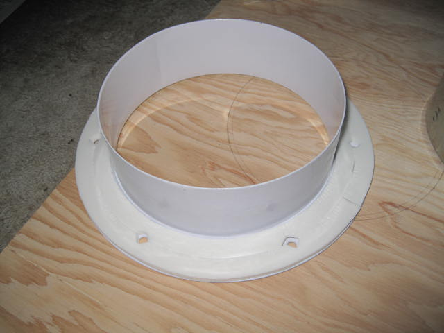 6 Quot Air Duct Collar For Wall Pass Through Hvac Diy