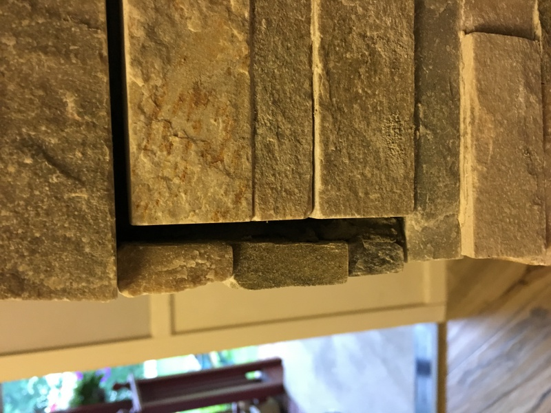 Problems With Professional Stacked Stone Veneer Install On Brick Fireplace Concrete Stone