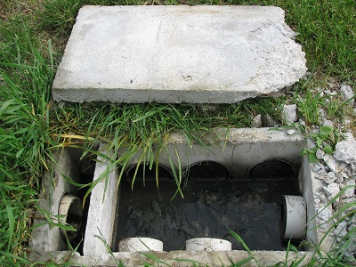 septic tank distribution box