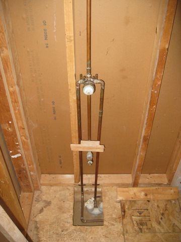 Moving Installing New Mixing Valve Issues With Framing