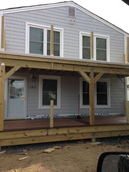 How To Trim 6x6 Deck Posts With Lateral Cross Bracing? - Carpentry