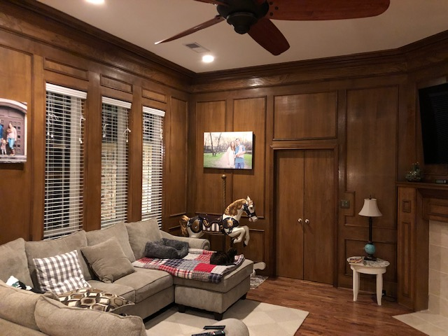 Wood Walled and Trimmed Living Space - Paint Ideas?-img_2832.jpg