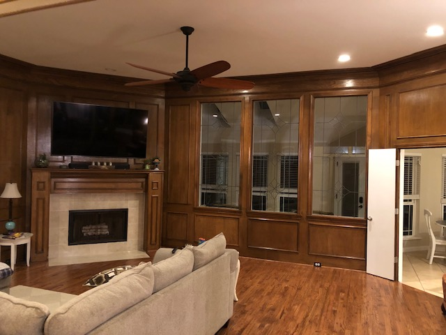 Wood Walled and Trimmed Living Space - Paint Ideas?-img_2837.jpg