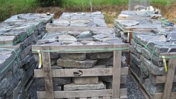 dry stack natural stone retaining