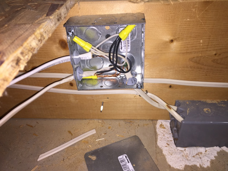 Electricians Installed Two Hidden Junction Boxes