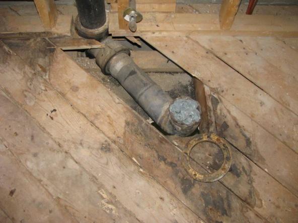 Replacing Lead Toilet Drain And Flange Plumbing Diy