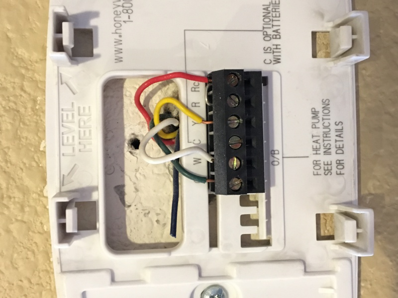c wire connection on american standard freedom 80 comfort r control rh diychatroom com standard honeywell thermostat wiring standard thermostat wiring diagram
