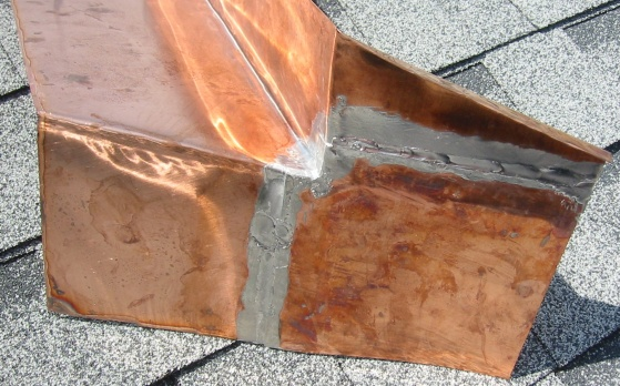 Soldering Copper Chimney Flashing Roofing Siding Diy