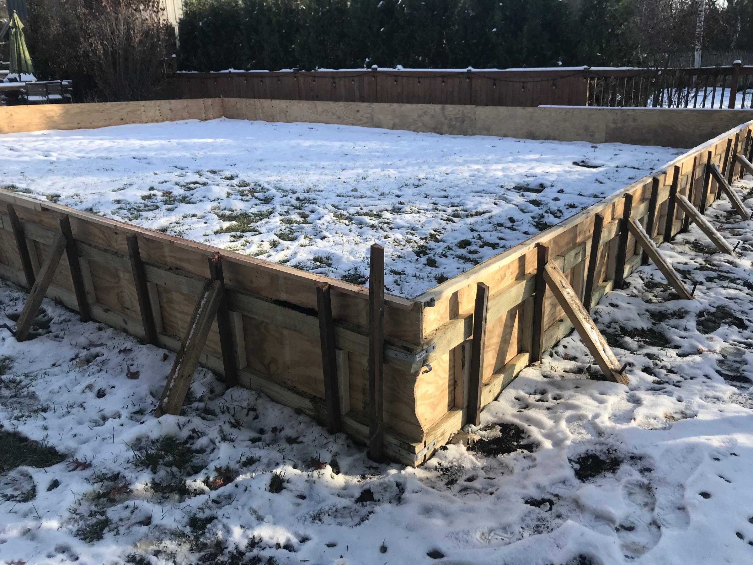 Backyard Hockey Rink Year 2 - Project Showcase - DIY ...